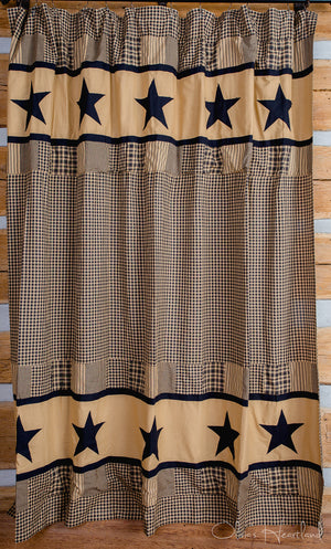 Jamestown Black and Tan Shower Curtain