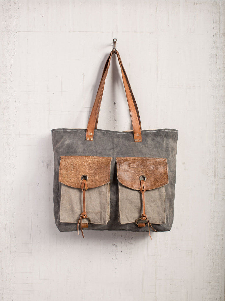 Flaps Amp Strings Shoulder Bag Mona B Upcycled Canvas Bag