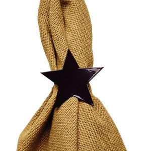 Black Star Napkin Rings - Set of 6