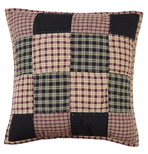 Plum Creek Quilted Block Pillow Cover - 16 inch
