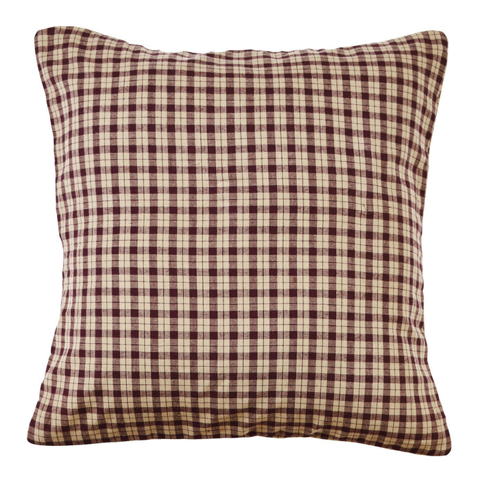 Plum Creek Plaid Fabric Pillow Cover - 16 inch