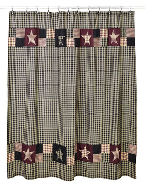 Plum Creek Shower Curtain | Country Primitive by Olivia's Heartland