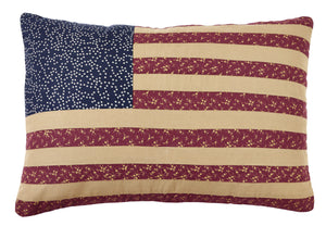Old Glory Flag Pillow Cover - 13x19 inch