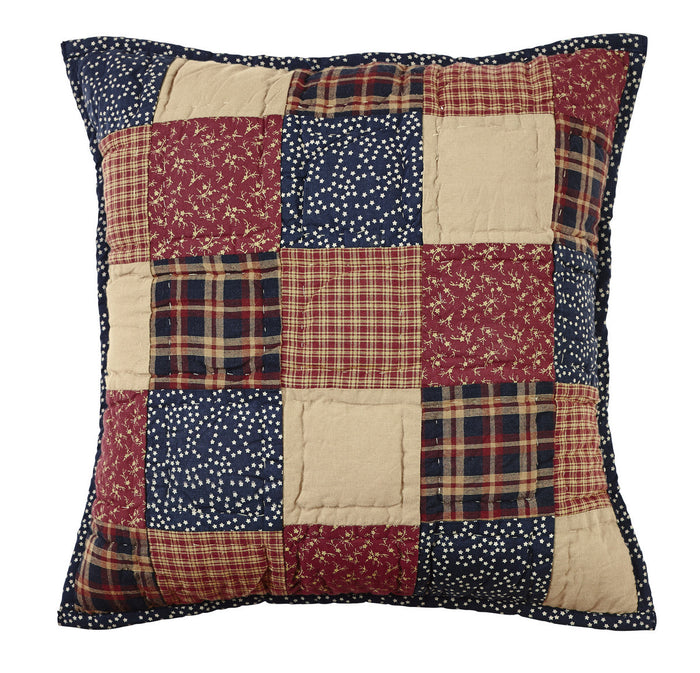Old Glory Quilted Pillow Cover - 16 inch