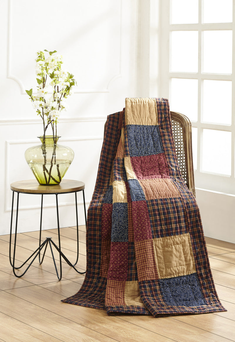 Old Glory Quilted Throw Dl Country Barn