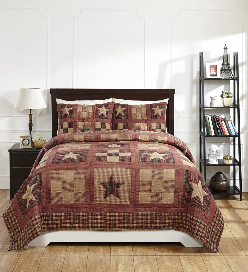 Bradford Star Quilted Bedding Set Country Primitive