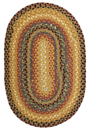 Peppercorn Cotton Braided Rug Oval