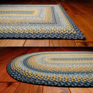 Sunflowers Cotton Braided Rug
