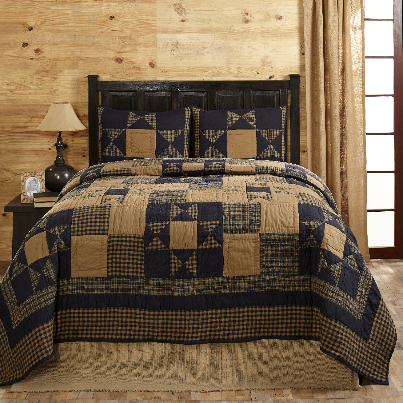Navy blue and tan bedding - Alexander Star Navy Blue And Tan Quilt Set Olivia S Heartland