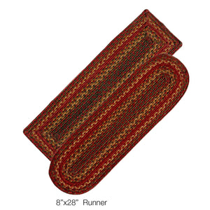 Cider Barn Jute Braided Stair Treads or Table Runner