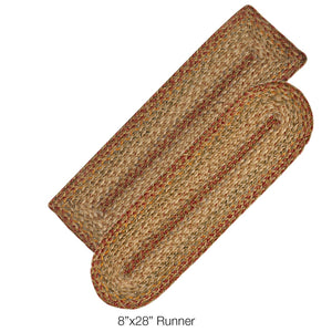 Harvest Jute Braided Stair Treads or Table Runner