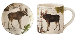 Wildlife Trail Salad Plates & Mugs - Moose