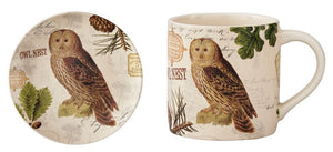 Wildlife Trail Salad Plates & Mugs - Owl