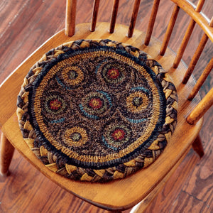 "Circles Hooked Chair Pad 15"" - Set of 2"