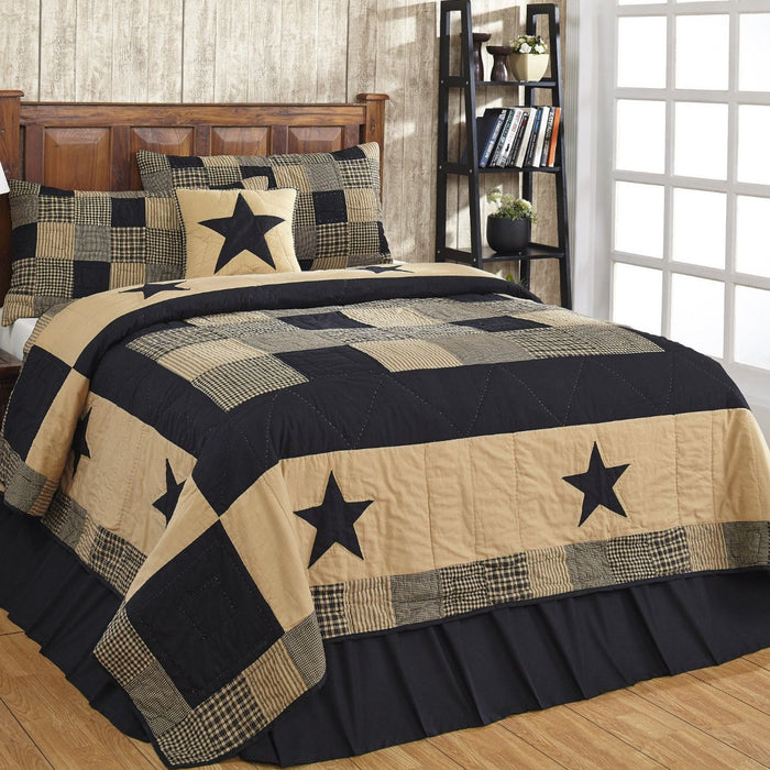 Jamestown Black & Tan Quilted Bedding Set - 2pc. Twin