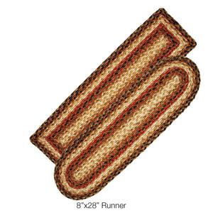 Russett Jute Braided Stair Treads or Table Runner