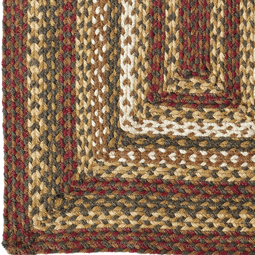 Tea Cabin Jute Braided Rug Oval Country Primitive