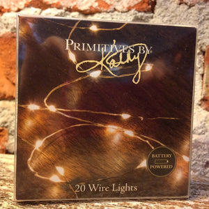 Copper Wire Light String - B/O by Primitives by Kathy - DL Country Barn