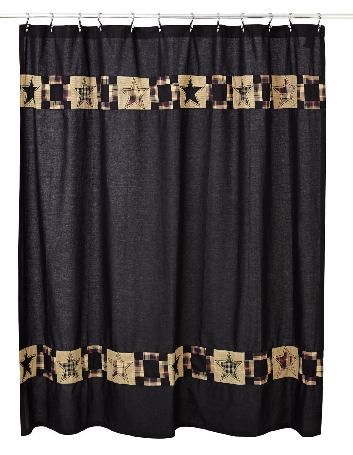 PRIMITIVE//COUNTRY BRADFORD SHOWER CURTAIN