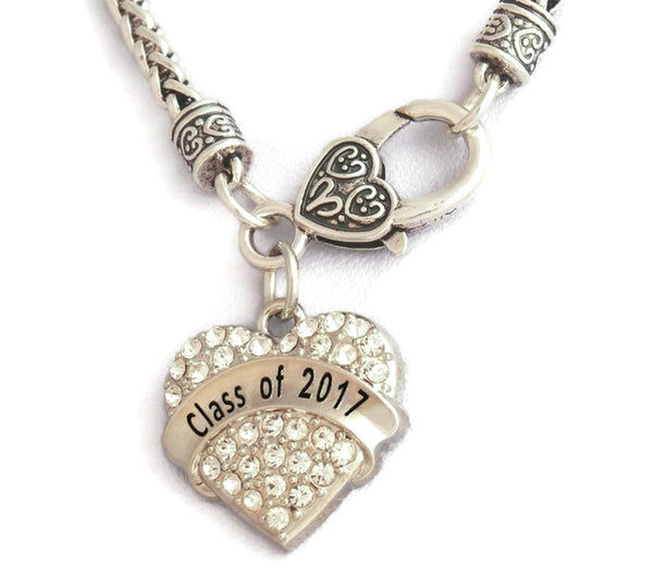 Class of 2017 Heart Shaped Pendant Necklace