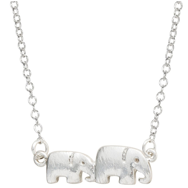 Two Elephants Necklace