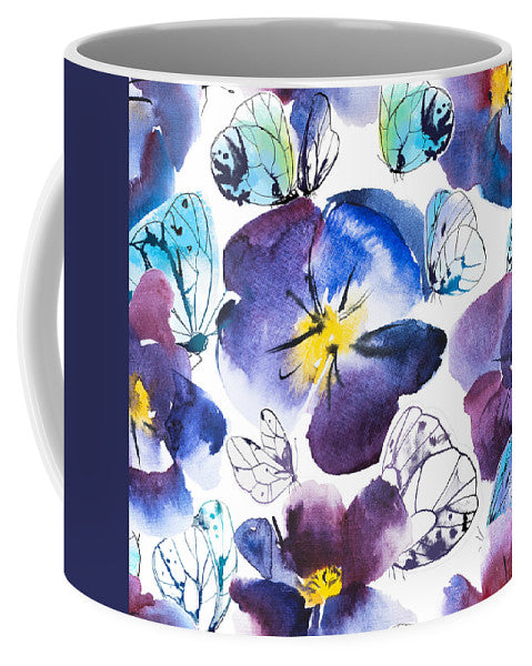 Pansy And Butterflies - Mug