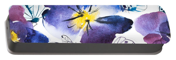 Pansy And Butterflies - Portable Battery Charger