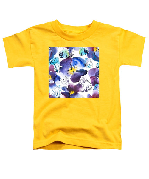 Pansy And Butterflies - Toddler T-Shirt