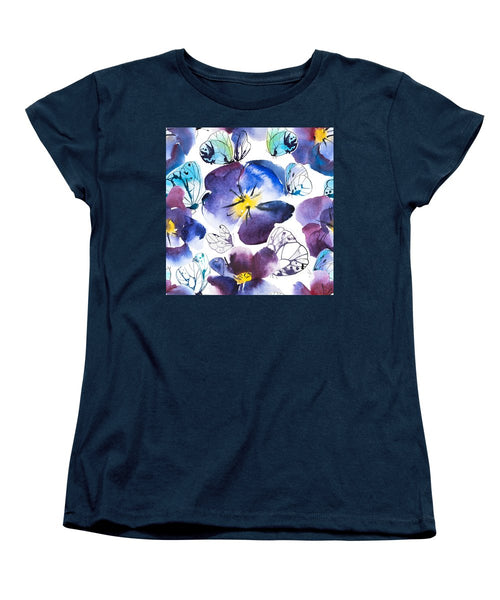 Pansy And Butterflies - Women's T-Shirt (Standard Fit)