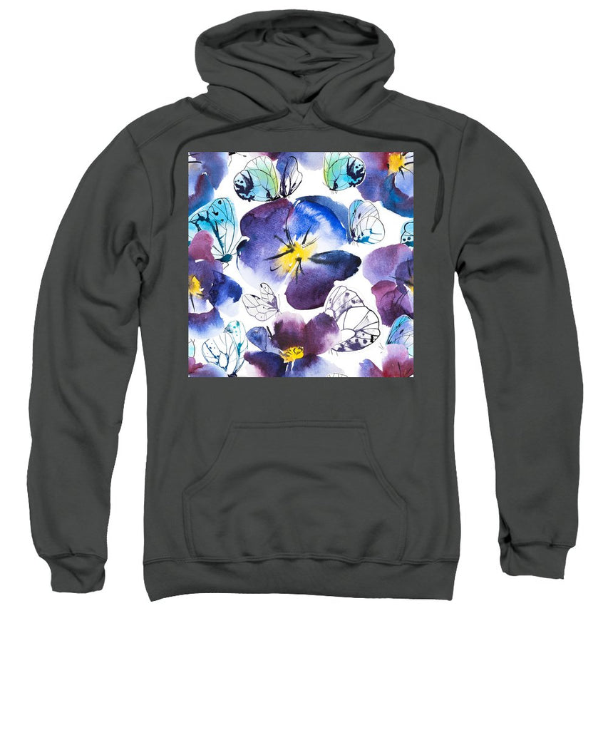 Pansy And Butterflies - Sweatshirt