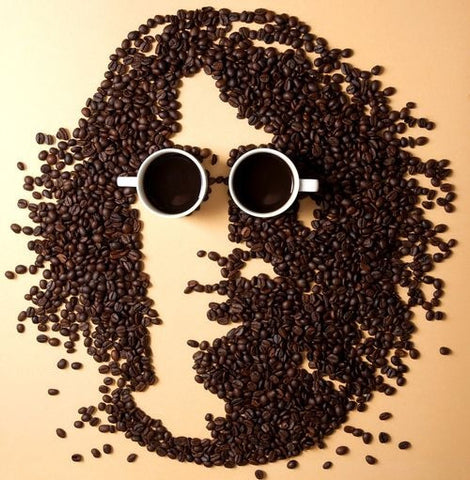 John Lennon with Coffee Beans