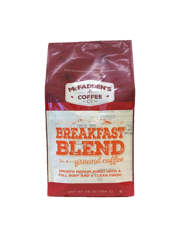 McFaddens Breakfast Blend Ground - Verena Street Coffee Co.