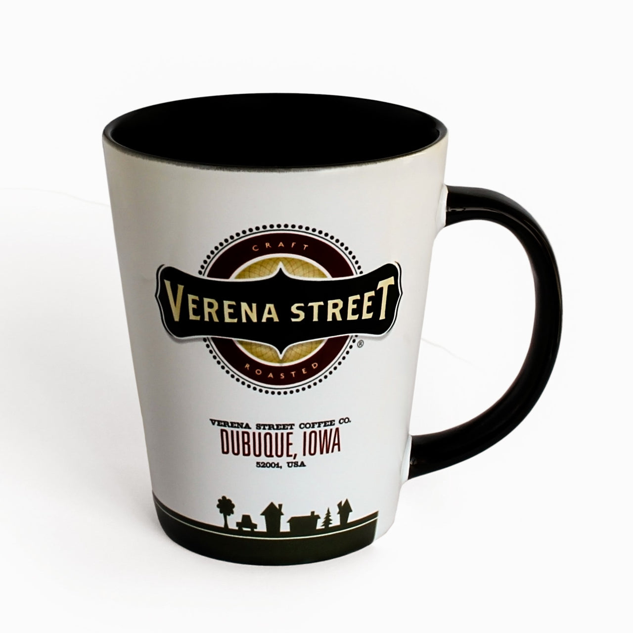 12oz Ceramic Latte Mug w/ Logo