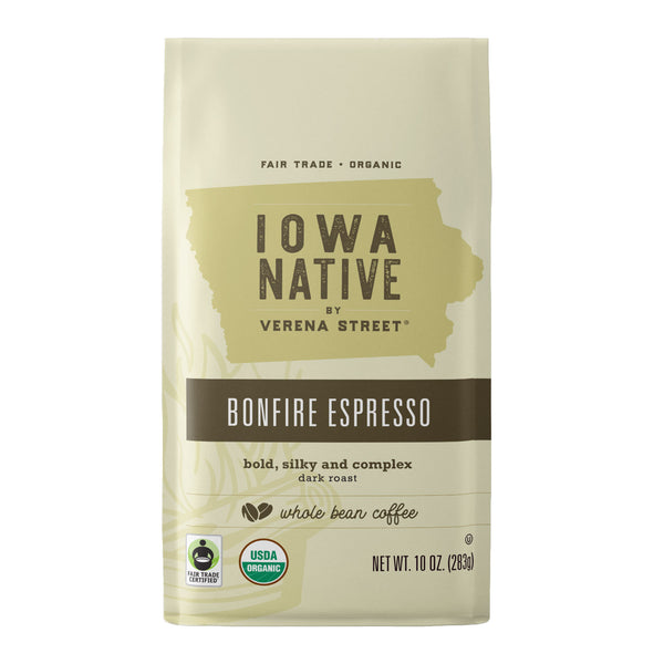 Bonfire Espresso - Fair Trade Organic Coffee - Verena Street Coffee Co.