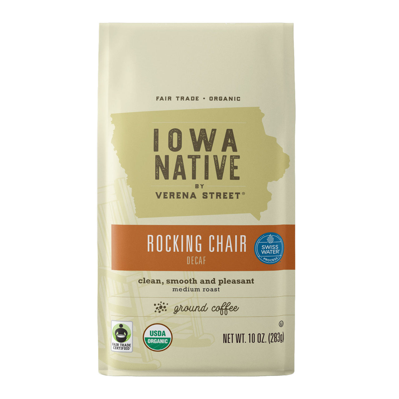 Rocking Chair Decaf Swiss Water Process - Fair Trade Organic Coffee - Verena Street Coffee Co.