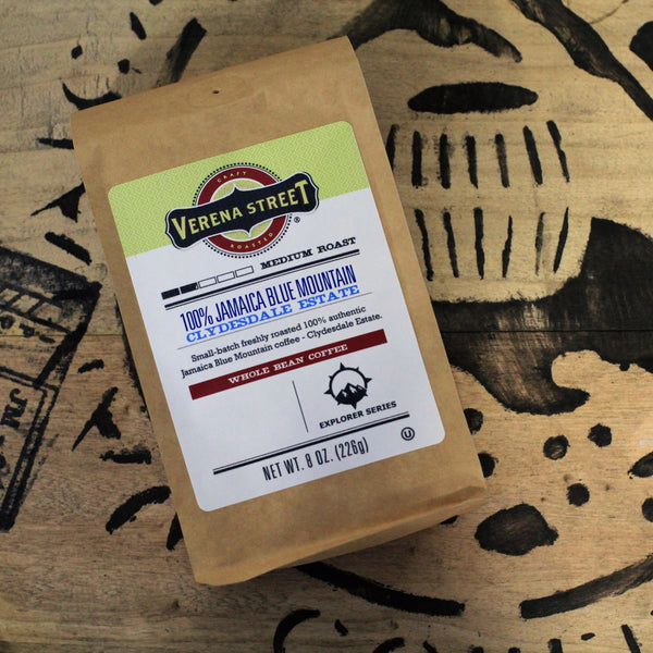 100% Jamaica Blue Mountain - Clydesdale Estate, whole bean coffee - Verena Street Coffee Co.