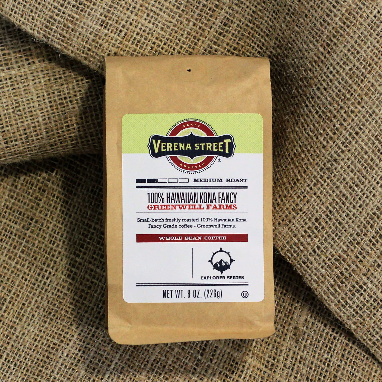 100% Hawaiian Kona Fancy- Greenwell Farms, whole bean coffee - Verena Street Coffee Co.