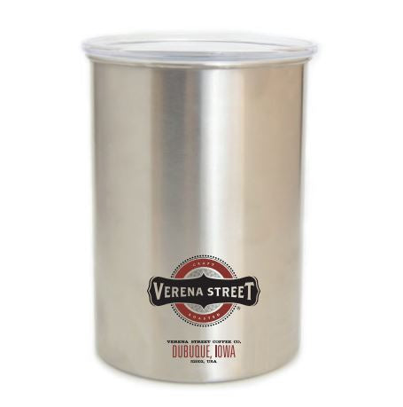 Stainless Steel AirScape Coffee Canister (1lb) - Verena Street Coffee Co.