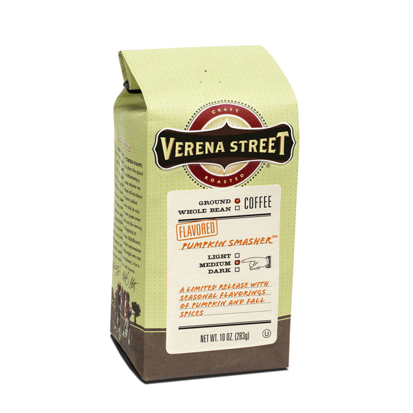 Pumpkin Smasher 10oz ground coffee (seasonal release) - Verena Street Coffee Co.