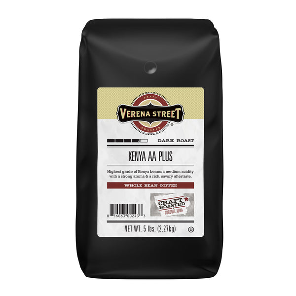 Kenya AA Plus whole bean - Verena Street Coffee Co.