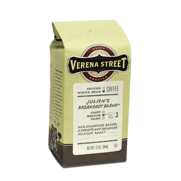 Julien's Breakfast Blend® whole bean - Verena Street Coffee Co.