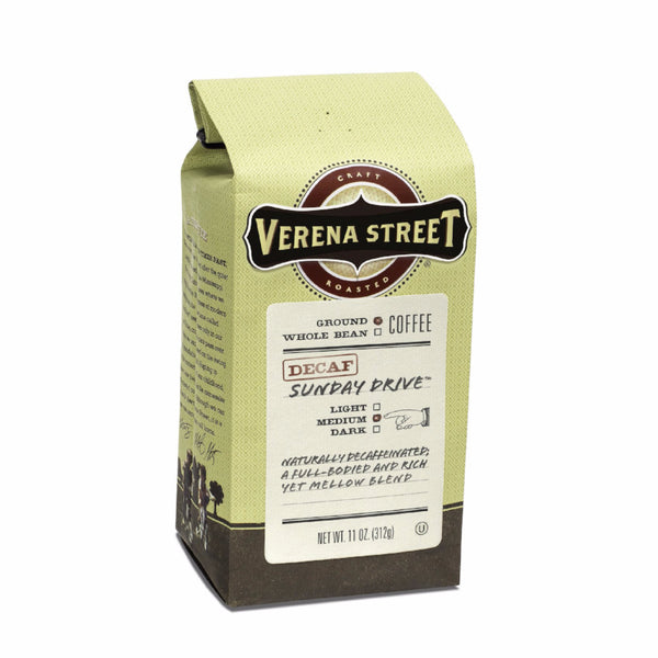 Sunday Drive™ Decaf Swiss Water® Process ground - Verena Street Coffee Co.