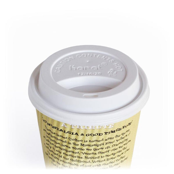 Lid for 12oz or 16oz cup, one size fits all (1000ct) - Verena Street Coffee Co.