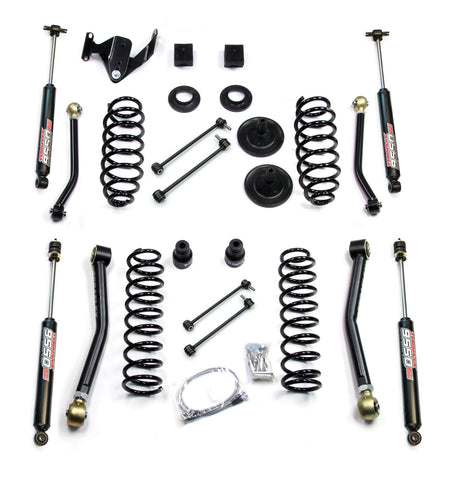 JK 4 Door 3 Inch Lift Kit W/4 FlexArms And 9550 Shocks 07-Pres Wrangler JK Unlimited TeraFlex