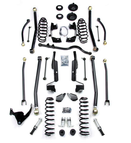 JK 4 Door 3 Elite LCG Long FlexArm Lift Kit W/SpeedBumps 07-Pres Wrangler JK Unlimited TeraFlex