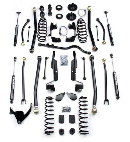 JK 2 Door 4 Elite LCG Long FlexArm Lift Kit W/9550 Shocks 07-Pres Wrangler JK TeraFlex