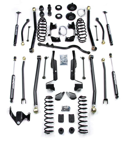 JK 4 Door 4 Elite LCG Long FlexArm Lift Kit W/9550 Shocks Right Hand Drive 07-Pres Wrangler JK Unlimited TeraFlex