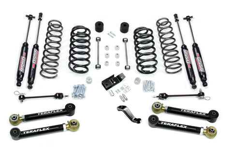 Jeep TJ/LJ 4 Inch Suspension System w/ 4 Flexarms and 9550 Shocks 97-06 Wrangler TJ/LJ TeraFlex