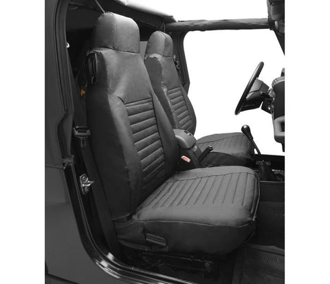 Jeep TJ Seat Covers Front Highback Buckets 03-06 Jeep Wrangler TJ Or Unlimited TJ Black Diamond Pair Bestop