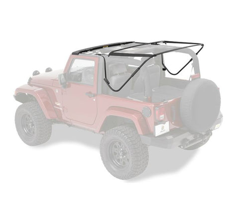 Jeep JK Soft Top Replacement Bow Kit 07-17 Jeep Wrangler JK 2-DR Black Bestop
